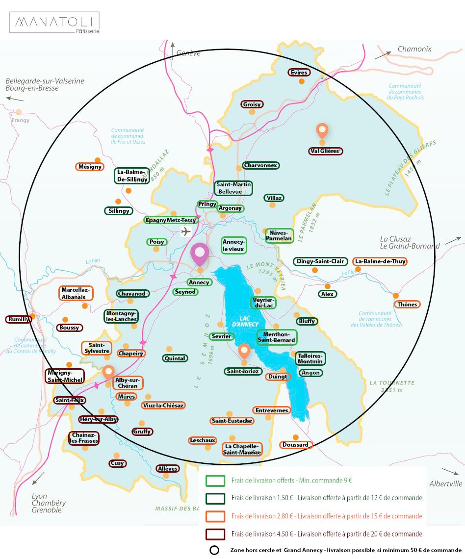Zone de livraison Manatoli
